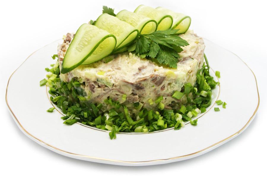 Салат из язык рецепт
